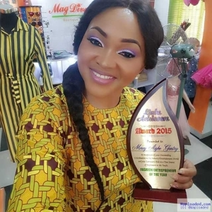 Photos: Nollywood Actress, Mercy Aigbe Bags Fashion Entrepreneur Of The Year Award